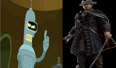 Bender vs Haytham Kenway