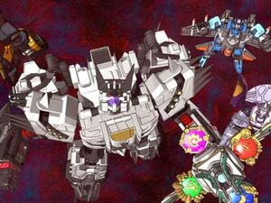 Galvatron with omega lock