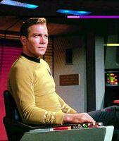 Captain kirk in chair