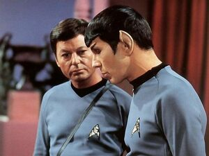 Spock and mccoy talking