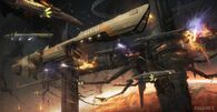 1200x620 3250 Extrasolar War 2d sci fi spaceships battle picture image digital art