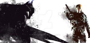 Batman vs deathstroke by mubassam-d7d16nh