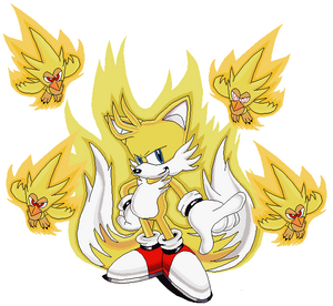 Tails super pose