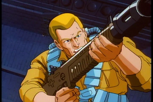 Duke with gun