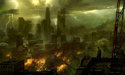 Post-Apocalyptic Cityscape 600