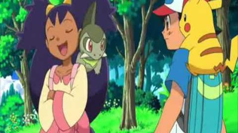 Iris taunts Ash for being such a kid