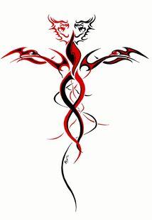 Tribal-cross-fantasy-tattoo-design