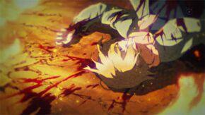 Anime boy dead