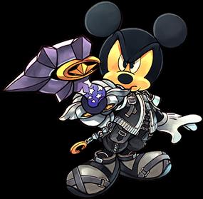 Mickey with star seeker keyblade