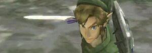 Link ready sword