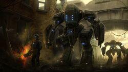 Art city robots future