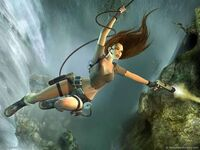 Lara swing and attack