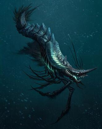Alien sea creature by yefumm-d5hmb31