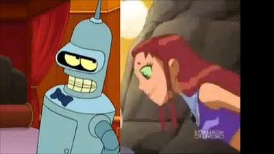 Bender and starfire 1