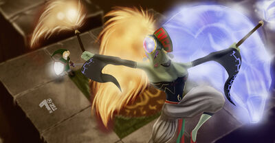 Link vs twinrova by pumaboy3d-d37c3zv