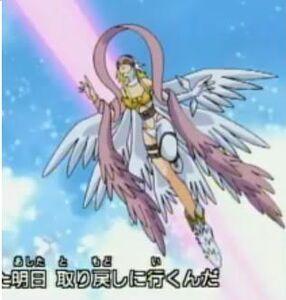Angewomon flying
