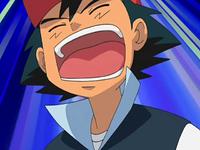 Ash yells