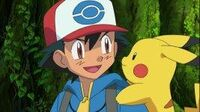 Ash and pikachu cheerful