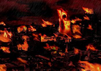 Burning city by artboy70-d359s1o