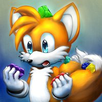 Tails with chaos emeralds
