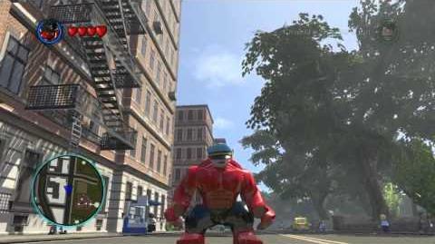 LEGO Marvel Super Heroes The Video Game - Red Hulk free roam