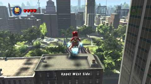 LEGO Marvel Super Heroes - Unlocking and Flying the Police Helicopter (Vehicle Token Location)