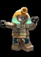 The pharaoh-king of the mummy warriors