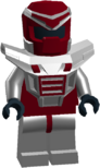 RaceLord Red Silver Armour