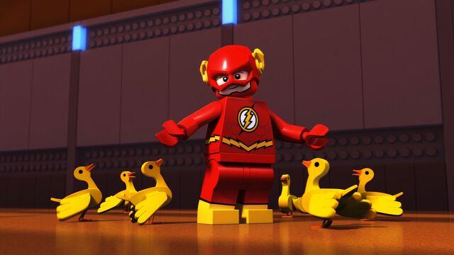 File:LegoJLBizarro-Flash ducks.jpg