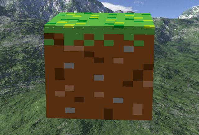File:Minecraft grass block.png