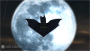 Bat logo on moon LB2