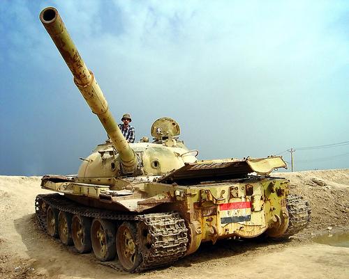 File:Me, Iraqi war tank.jpg