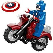 Captain and motorbike