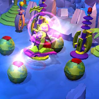 A regular Mantis Lord summoning four Alien Pod