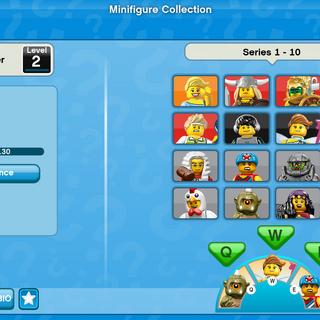 The original Minifigure Collection UI.