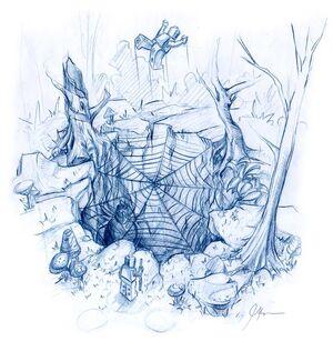 Tramp webs pit