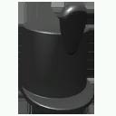 Black shako hat