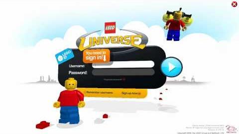 LEGO Universe Login Screen - 0.179