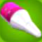 Classic Pink Rocket Nose Cone