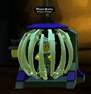 Waza Matta caged