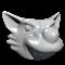 Wolf head helmet