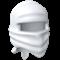 White ninja hood