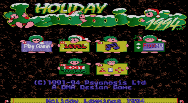 File:HolidayLemmings94 Title.png