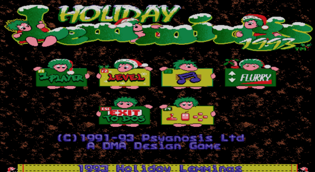 File:HolidayLemmings93 Title.png