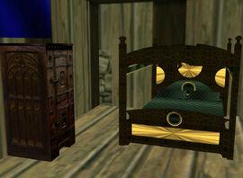 Bedroom Bed & Dresser