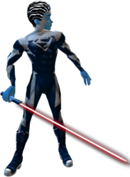 Blue Superman Saber Red