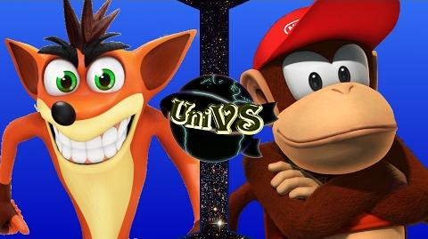 UniVS - Crash Bandicoot VS Diddy Kong