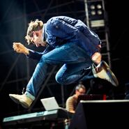 Blur headlining last day of rock in roma festival in italy on july 29th 2013 damon albarn band play