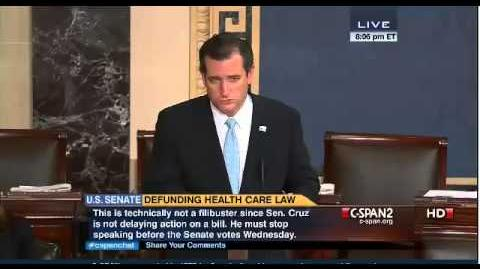 Ted Cruz Reads Green Eggs And Ham. Ted Cruz Filibuster