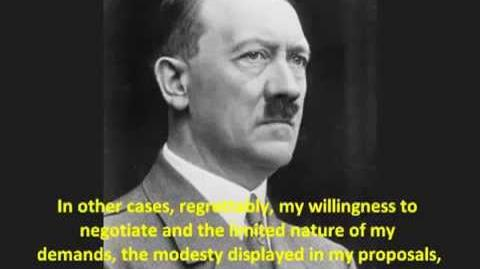 (VERY RARE HITLER SPEECH) - Undeniable PROOF that Adolf Hitler wanted Peace with England France